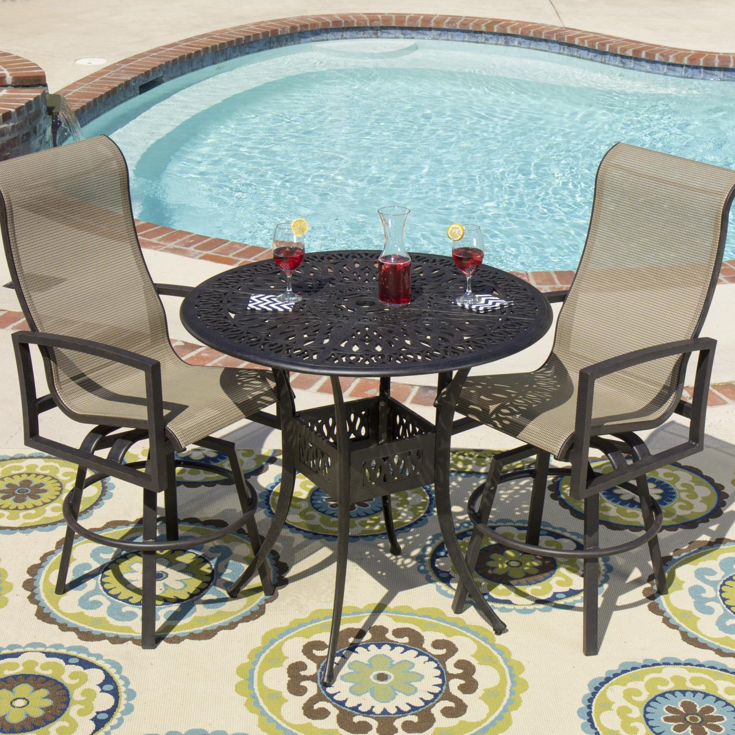 Picture of Acadia 2-Person Sling Patio Bar Set By Lakeview Outdoor Designs