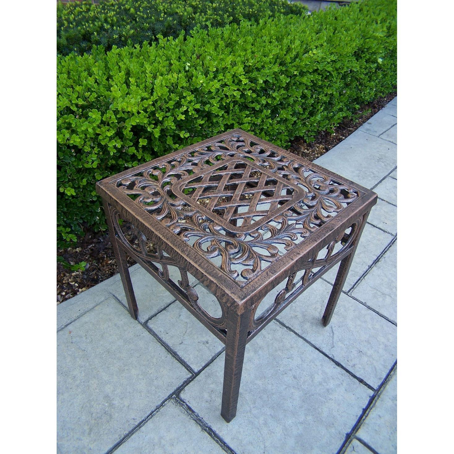 Oakland Living Mississippi End Table - Antique Bronze