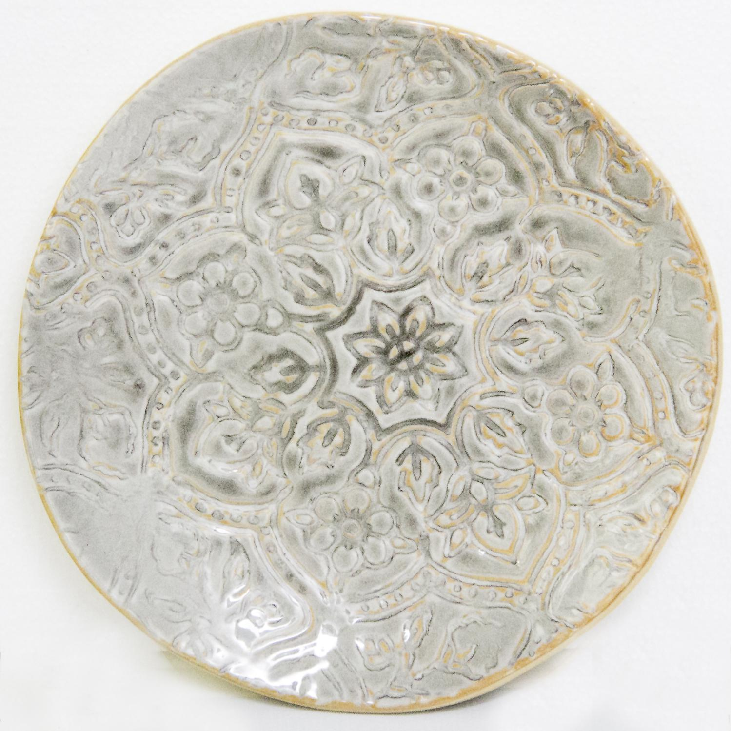 Picture of Artisan Tile - Grey 9.5 In Salad Plate