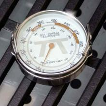 2-Inch Stainless Steel Grill Surface Thermometer Outset 2-Inch Stainless Steel Grill Surface Thermometer