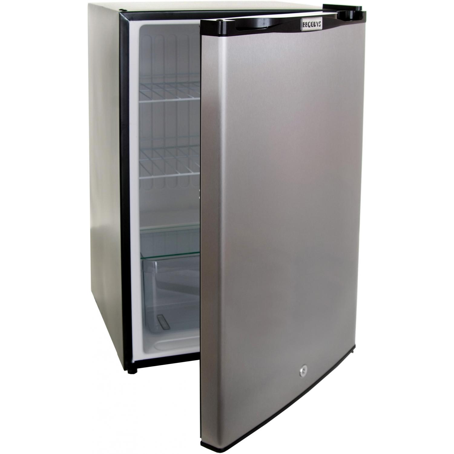 BBQ Guys 4.1 Cu. Ft. Capacity Stainless Steel Compact Refrigerator With Locking Door