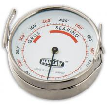 Man-Law 3-Inch Stainless Steel Large Diameter Grill Surface Thermometer