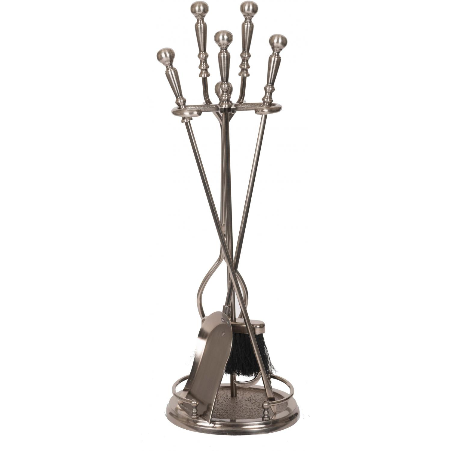 Picture of Alpine Flame 5-Piece Pewter Fireplace Tool Set