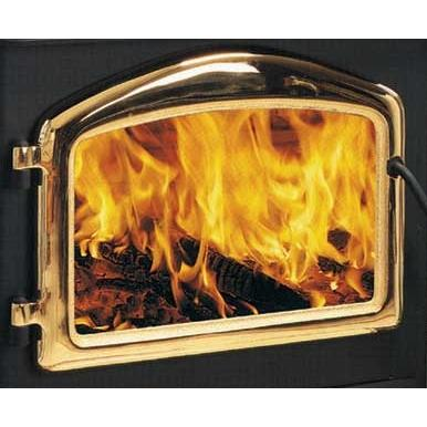 Napoleon H222G Standard Arch Cast Iron Stove Door - 24 KT Gold Plated