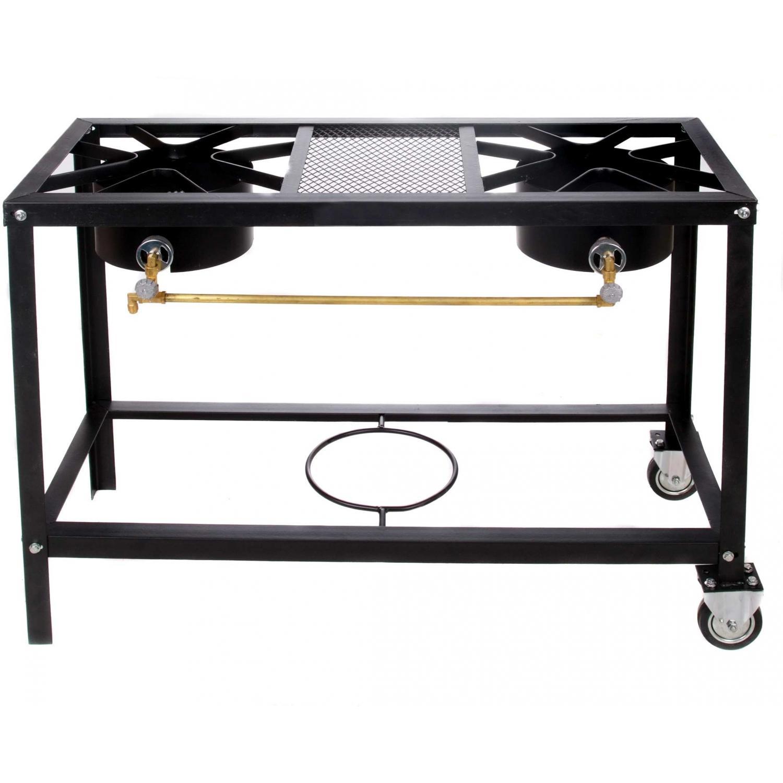 Cajun Cookware Burners On Wheels 2 Burner Low Pressure Gas Burner & Stove