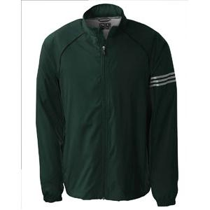 Adidas Golf Mens ClimaProof 3-Stripes Full-Zip Jacket 2XL - Zucchini/Sterling