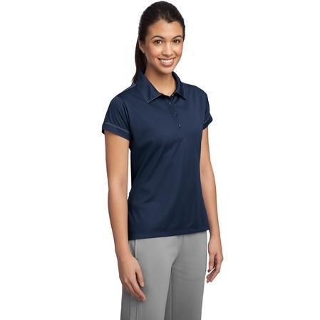 Sport-Tek Ladies Contrast Stitch Micropique Sport-Wick Polo Shirt Medium - True Navy