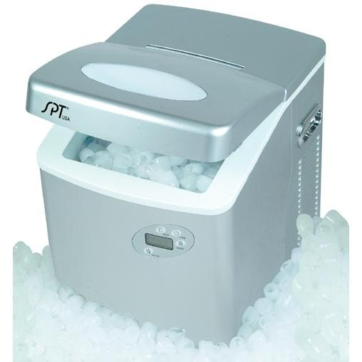 Sunpentown IM-101 2.5 lb. Capacity Portable Compact Ice Maker With LCD - Silver