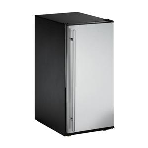 U-Line ADA15IMS-00 Right Hinge ADA Compliant Ice Machine - Stainless Steel Door / Black Cabinet