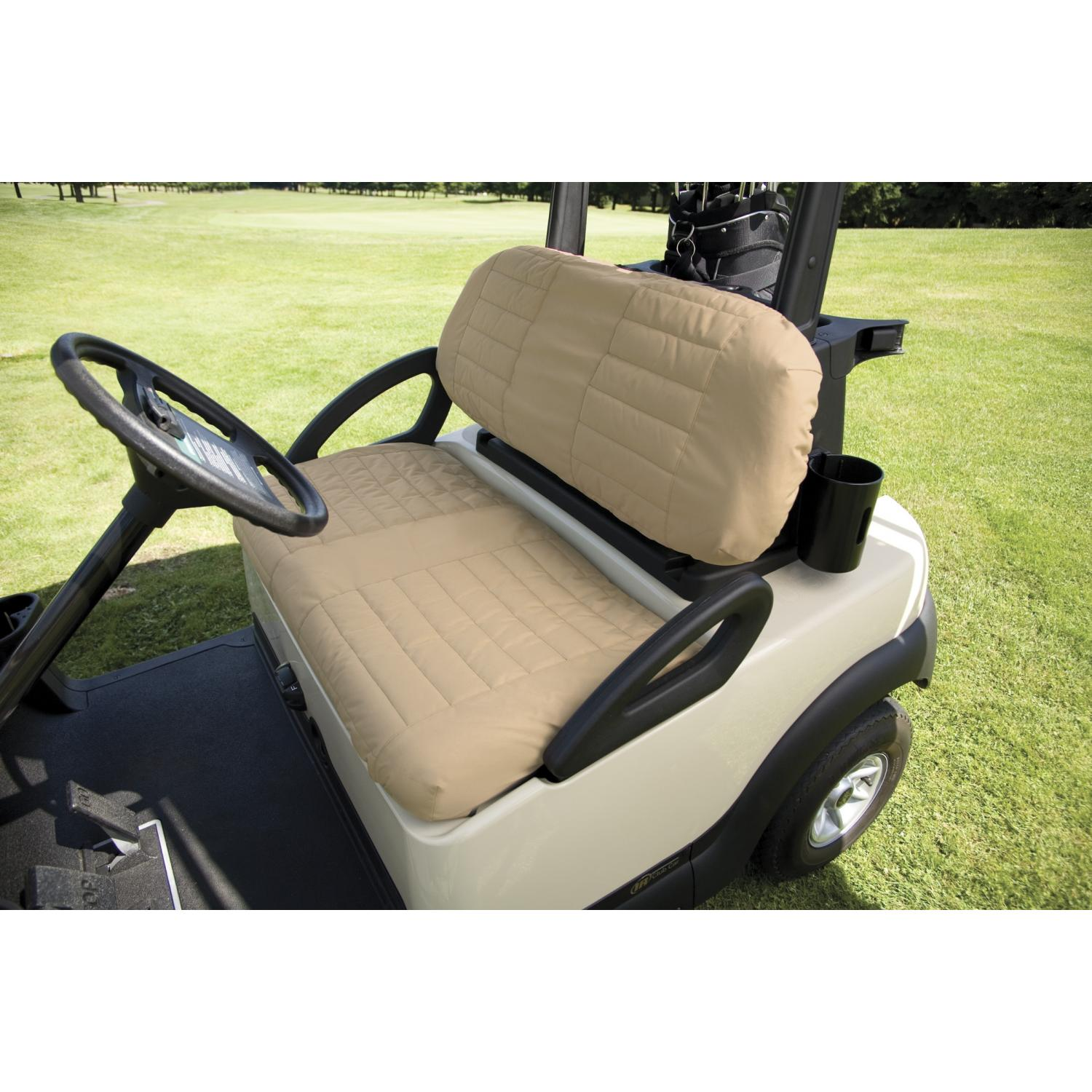 Classic Accessories Padded Golf Car Seat Cover - Sand