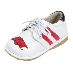 Squeak Me Shoes Boys Collegiate Toddler Shoe Size 3 - Arkansas