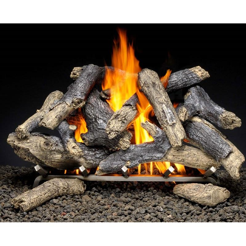 Firegear 18-Inch Prairie Fire Vented Log Set Without Burner