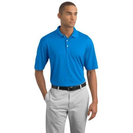 Nike Golf Dri-FIT Cross-Over Texture Polo Shirt Large - New Blue