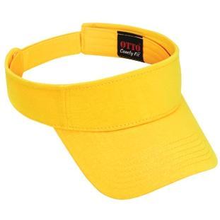 Otto Cap Comfy Cotton Jersey Knit Sun Visor - Yellow