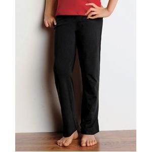 Bella Girls Cotton/Spandex Dance Pant Large - Black