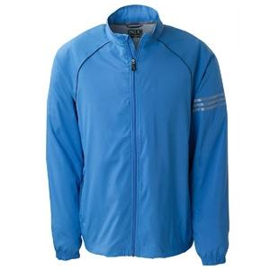 Adidas Golf Mens ClimaProof 3-Stripes Full-Zip Jacket 2XL - True Blue/Sterling