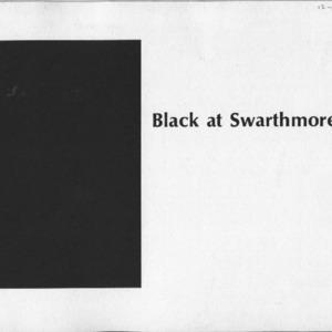 Black at Swarthmore 1969
