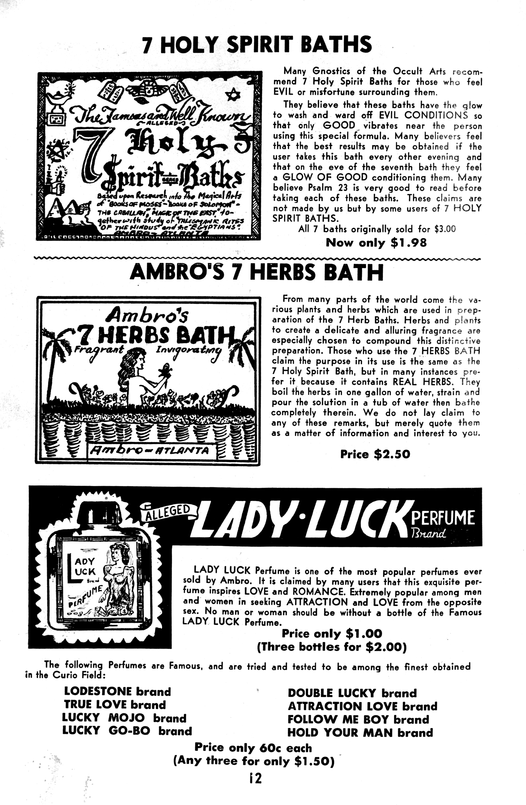 Ambro's Famous Curio Catalog No  3 · Conjure Americana