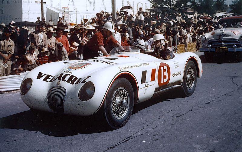 Jaguar C-Type XKC 029 Veracruz at 1954 Carrera Panamericana