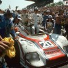 Le Mans 1976, at the wheel: Gijs van Lennep (left) and Jacky Ickx (right), overall winners