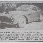 Aston Martin DB4GT – Classic Cars for Sale