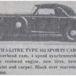 Horch 853 Sports Cabriolet – Classic Cars for Sale