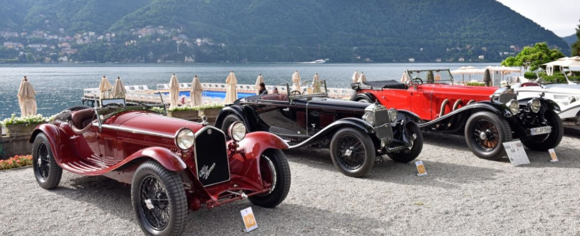 1932 Alfa Romeo 8C 2300 Zagato Spider, 1931 OM Superba 665 SSM, 1930 Mercedes-Benz 710 SS Tourer and