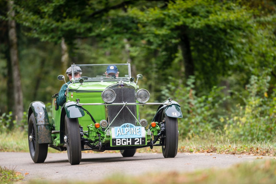Alpine Trial 2016 - Car 39 Wilfried Schaefer (D) / Sandra Hubner (D) 1934 Talbot 105 Alpine