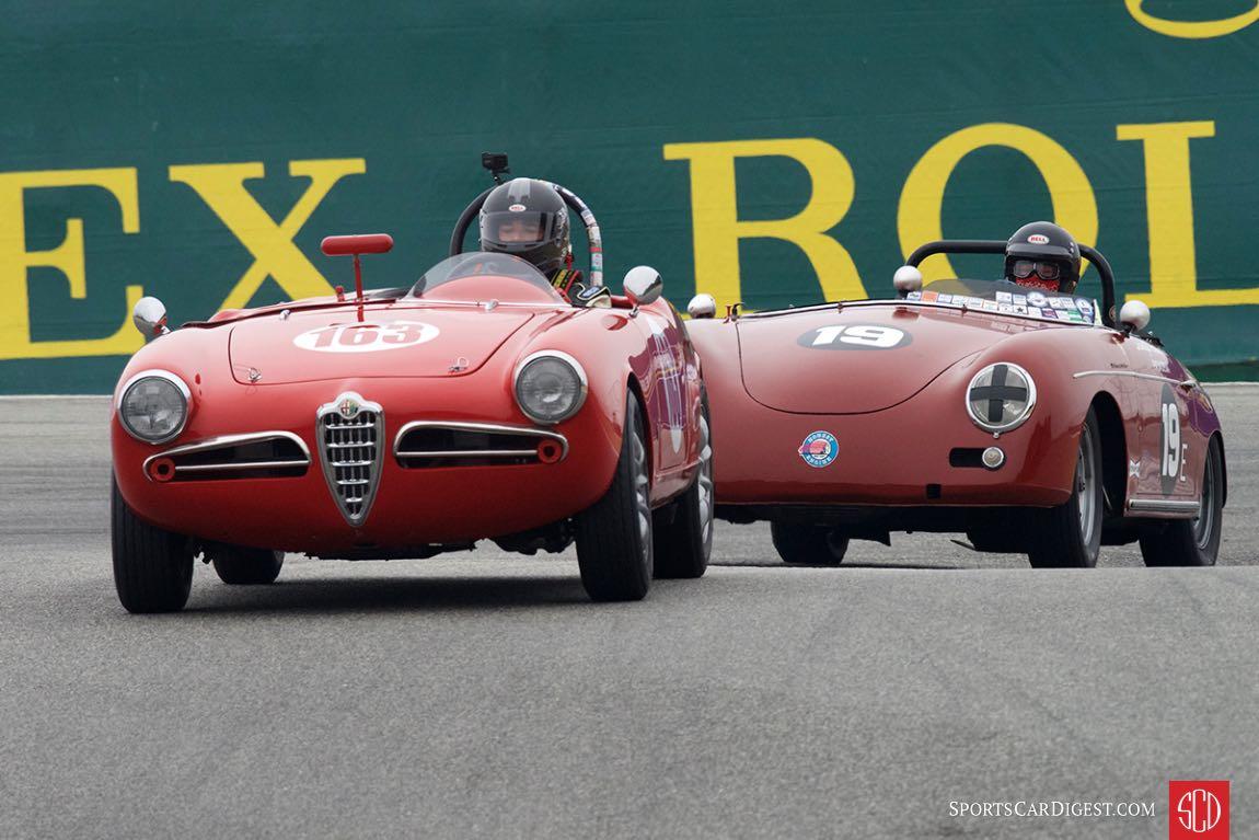 Michael Vogel - 1956 Alfa Romeo Giulietta Spider leads Steve Schmidt - 1958 Porsche Speedster