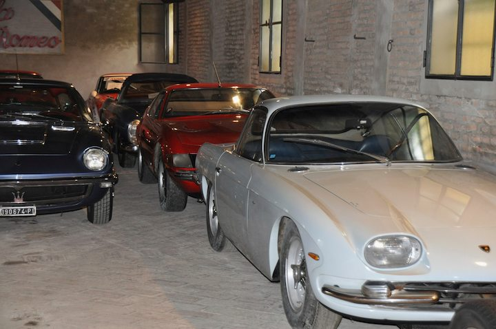 Maserati Mistral, Ferrari 365 GTB/4 Daytona and Lamborghini 350 GT