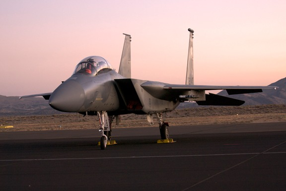 Pre-sunrise flight line walk finds USAF F-15