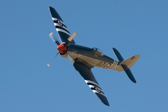 Doug Matthews in the Unlimited Class Hawker Sea Fury Bad Attitude