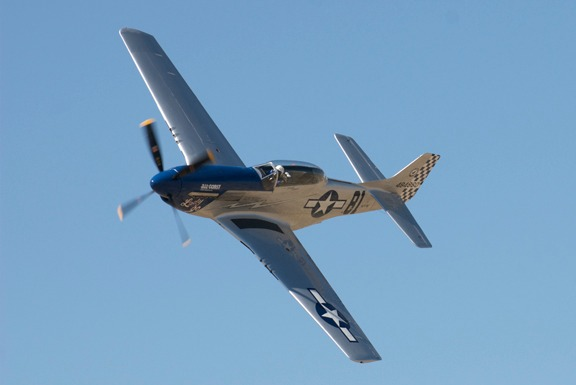 Robert Patterson in his TF-51D Mustang Lady Jo