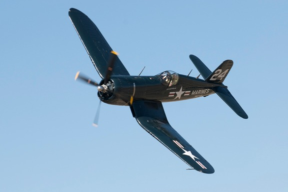 Doug Matthews in his F4U-4 Corsair