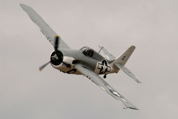 FM-2 Wildcat needs 48 turns of a hand crank to raise/lower landing gear