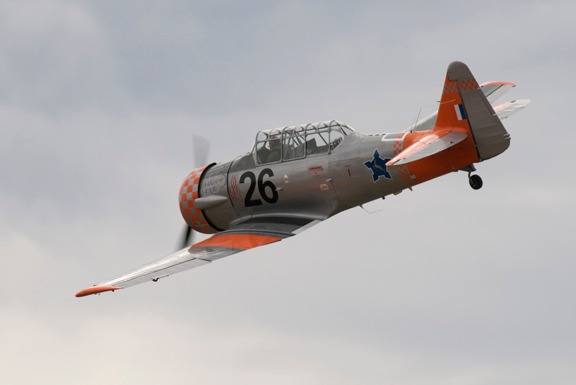 Jim Thomas in his T-6 Happy Hour