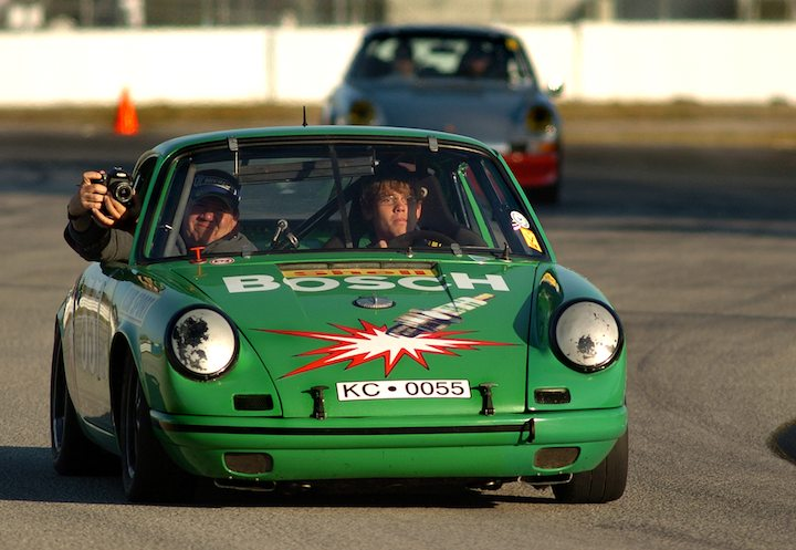 Porsche 911 on parade lap