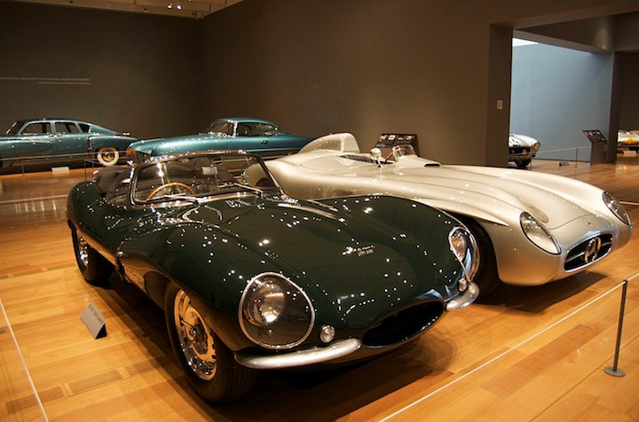 1955 Mercedes-Benz 300SLR (W 196 S) and 1957 Jaguar XKSS Roadster