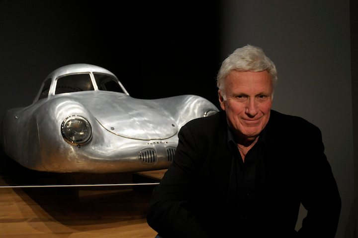 Ken Gross with 1938/39 Porsche Type 64 Coupe replica
