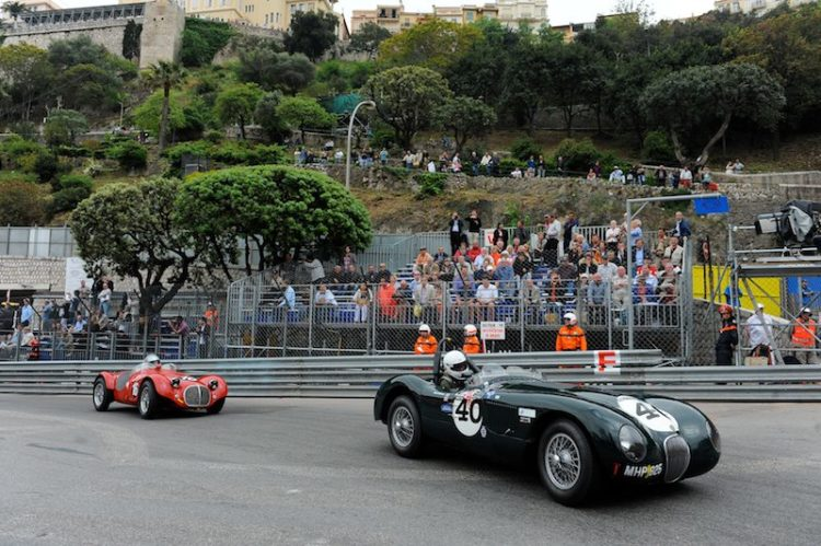 David Wenman's Jaguar C-Type pursued by Maserati A6GCS of Jos Koster