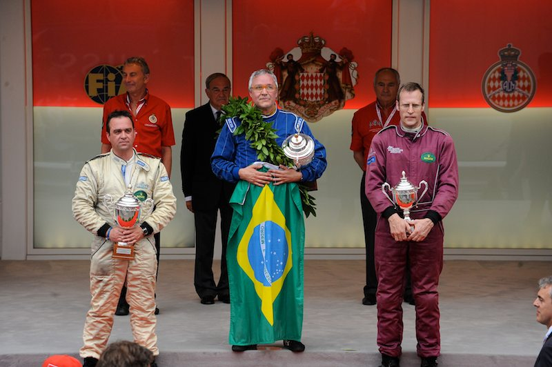 Smile! You're on the podium at the Monaco Historics...