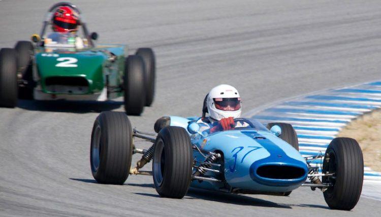 Stan Peterson in his 1966 Brabham BT18.