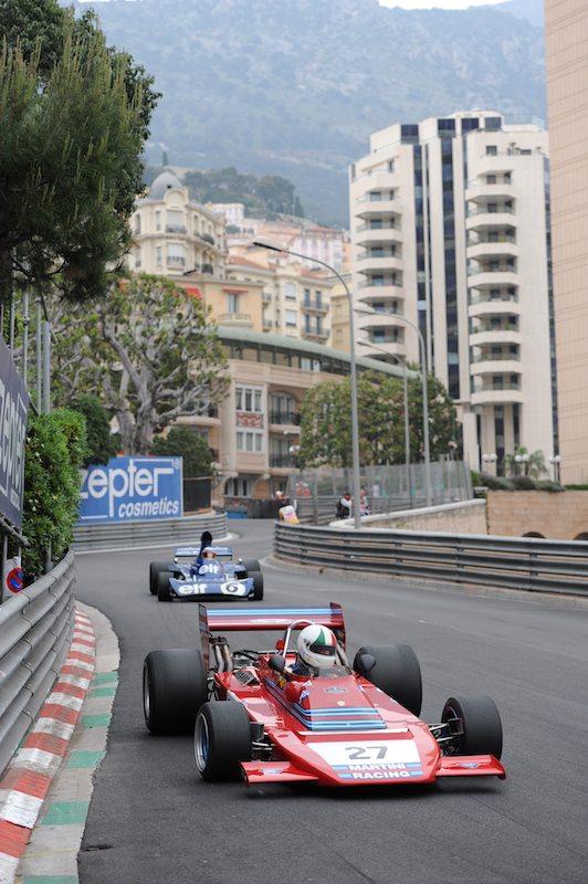 Tecno E731 of Giuseppe Bianchini leads Tyrrell 006 of John Delane