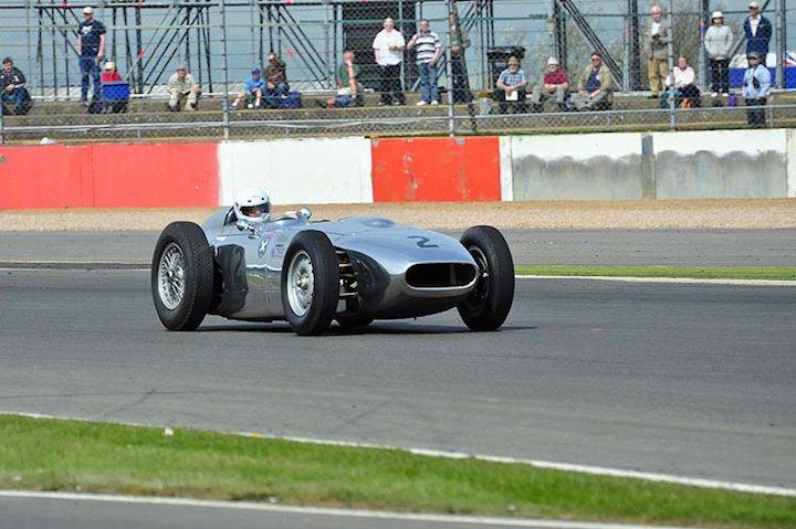 Amschel Rothschild Trophy winner Rod Jolley in the 1958 Lister Jaguar Monza