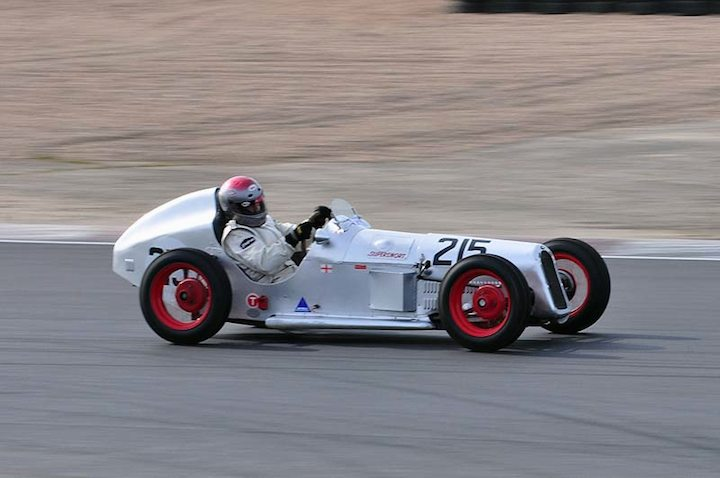 Paul Lawrence in his 1932 Austin 7 Super Sport 3rd overall and class winner in race 3
