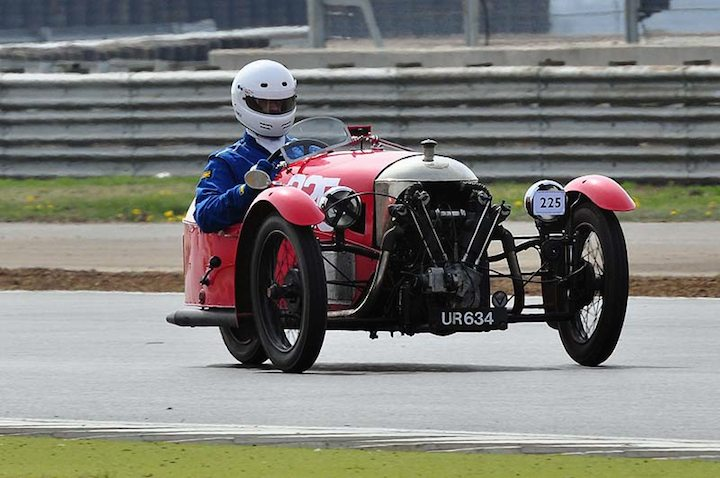 Terry Coxon proves you don't need 4 wheels to be fast 1928 Morgan Aero Jap