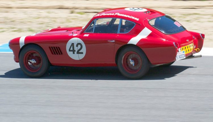 Rob Fisher takes his 1957 AC Aceca Bristol out of turn eight into nine.