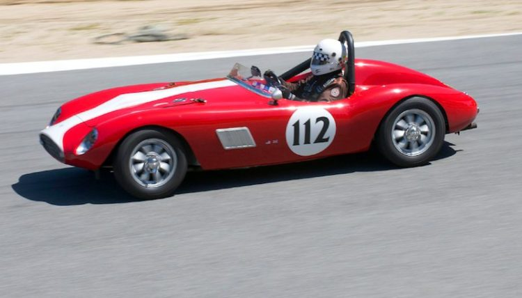1959 Byres MG Special driven by Jim Weissenborn into turn eight.