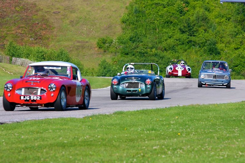 Jim Gregg's Austin Healey 100/6 leads others in Group 3