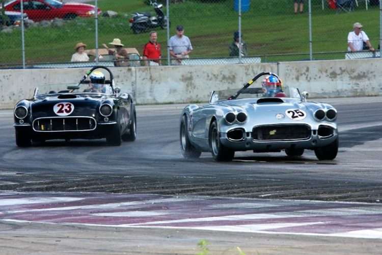 19060 Corvette of Thomas Frankowski leads 1956 Corvette of Todd Stuckart